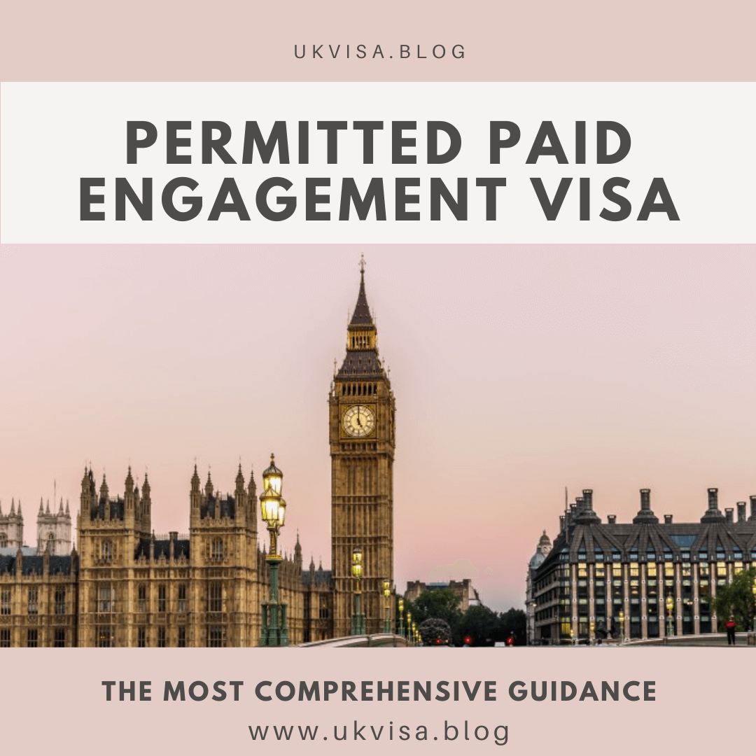 Permitted Paid Engagement (PPE) Visitor Visa UK