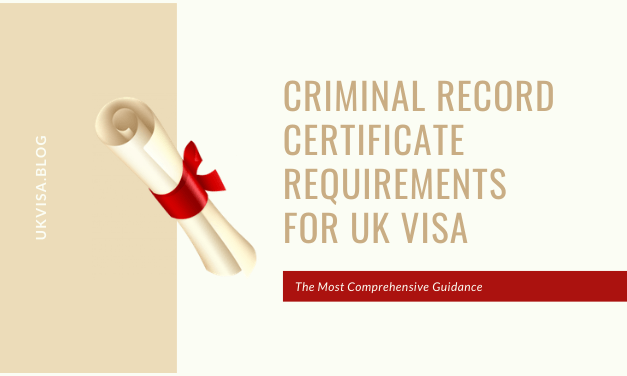 Criminal Record Certificate Requirements for UK PBS Visa