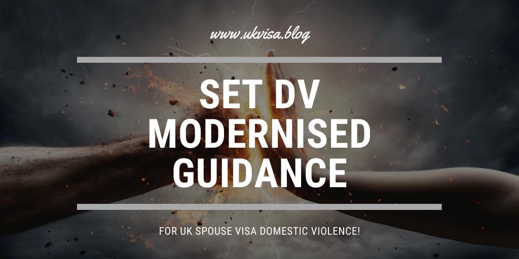 Set DV Modernised Guidance for UK spouse visa domestic violence!
