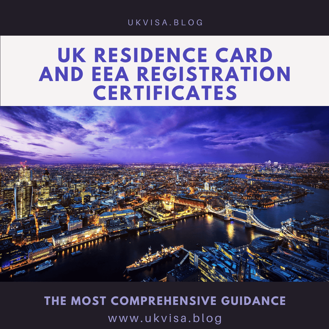 UK Residence Card and EEA Registration Certificates
