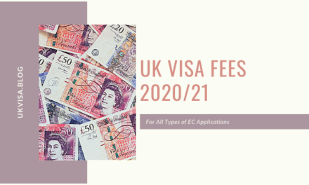 Latest UK Visa Fees 2020/21 | 6-Months Visit | Spouse | Student