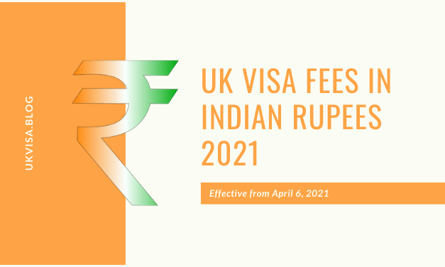 How much is the UK Visa Fees 2021 in Indian Rupees?